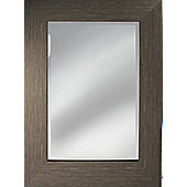 Pharmore Ltd Contemporary Mirror - Brown - 80 cm H x 60 cm W x 4 cm D