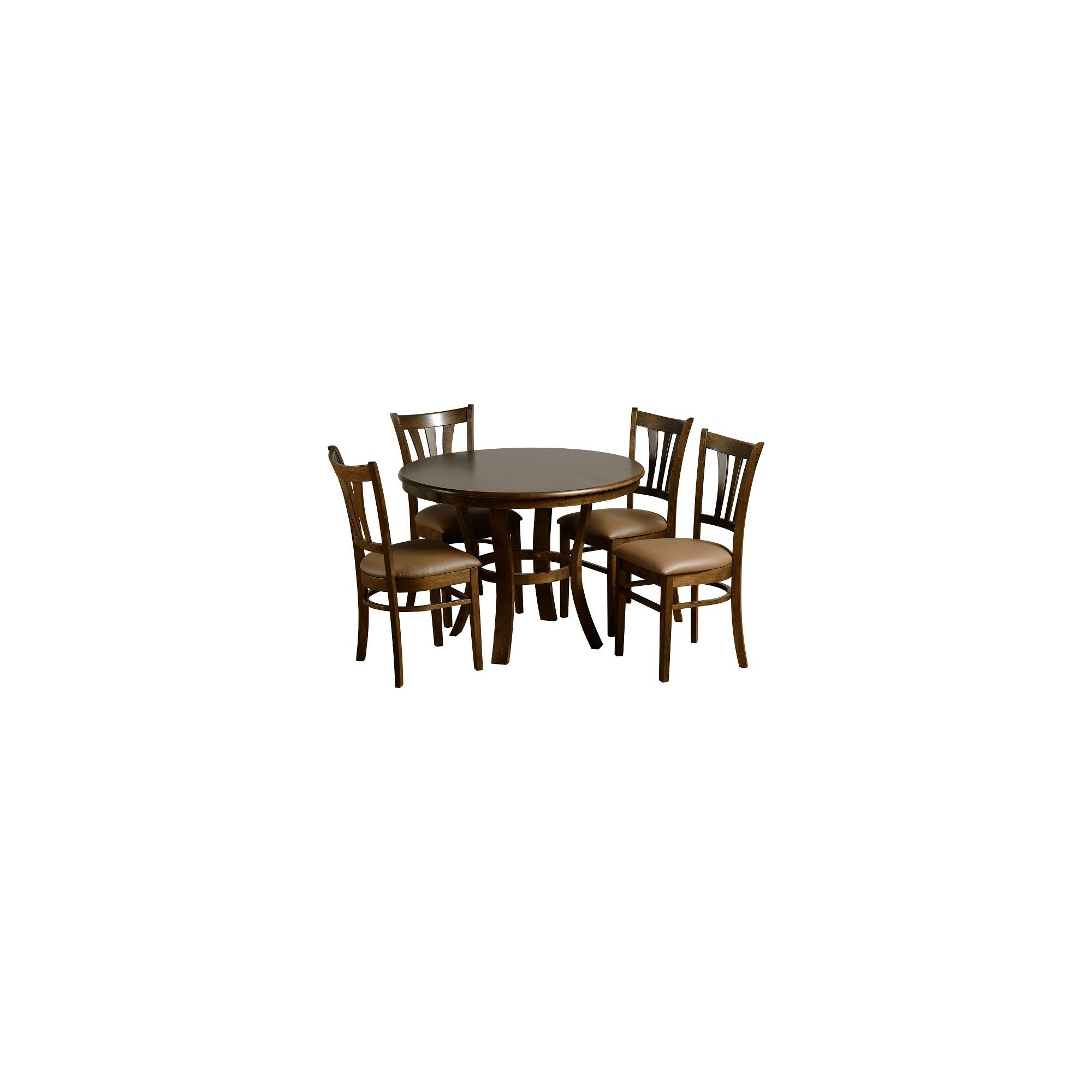 Home Essence Grosvenor Round 5 Piece Dining Set - Walnut Veneer at Tesco Direct