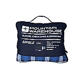 Single Check Flannel Sleeping Bag