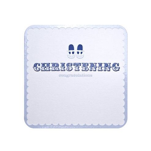 Cutie Pie Christening Card - Boy