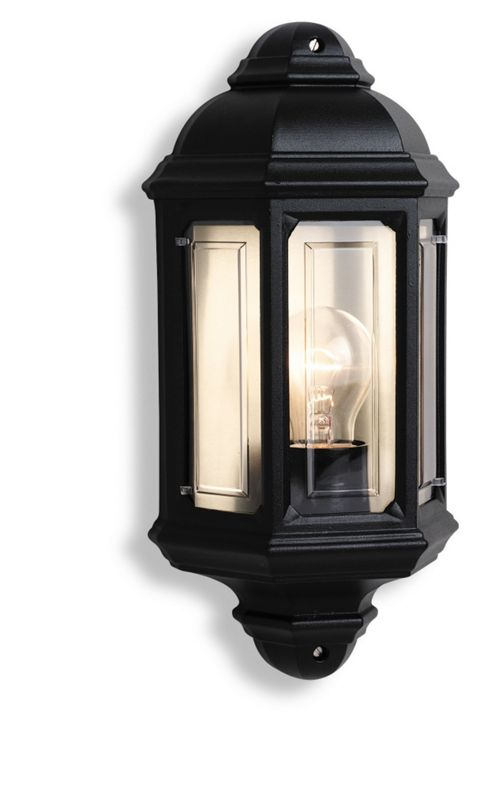 Firstlight One Outdoor Wall Lantern in Black