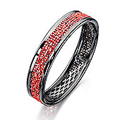 Fiorelli Gunmetal Bangle with Pink Pave Crystal