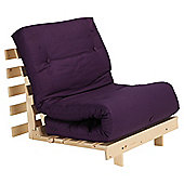 Helsinki Pine Single Futon With Mattress Plum