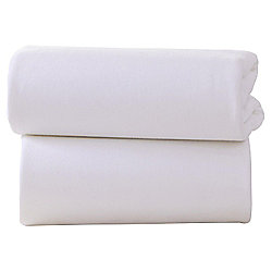 Clair de Lune Fitted Cotton Interlock Sheets - Crib (White)