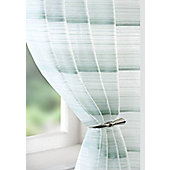 Strata Voile Curtain Panel - Green