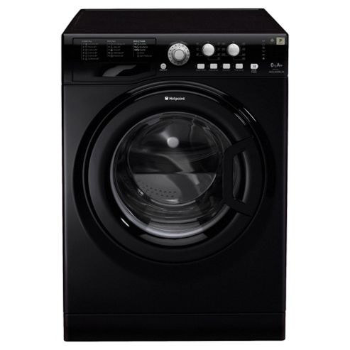 Hotpoint WMYL661K Washing Machine, 6kg Load, 1600 RPM Spin, A+ Energy Rating, Black