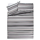 Tesco Black Stripe Duvet Kingsize
