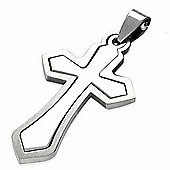 Urban Male Stainless Steel Two Part Cross Pendant For Men