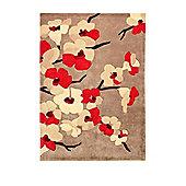 Infinite Blossom Red Rug 160X230cm