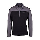Ridegway Mens High Wicking Breathable Lightweight Quick Drying Long Sleeved Top - Black