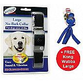 No Bark Collar Large + FREE Kong Wubba Large