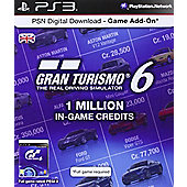 PSN Digital Download Card - 1 Million Gran Turismo 6 In Game Credits - PS3