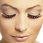Smiffy's - Eyelashes - Red and Black with Diamante