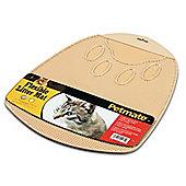 Petmate Cat Litter Mat Flexible in Buff