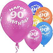 """""""Age 90 - 12"""""""" Superprint Balloons ASST (5pk)"""""""