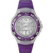 Timex Childrens Marathon Purple Jelly Strap Watch T5K503