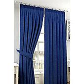 Viva Pencil Pleat Curtains 168 x 137cm - Blue