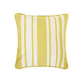 Linea Stripe Cotton Cushion, Lime