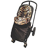 Animal Print Padded Footmuff To Fit phil and teds Navigator/Dot - Tiger