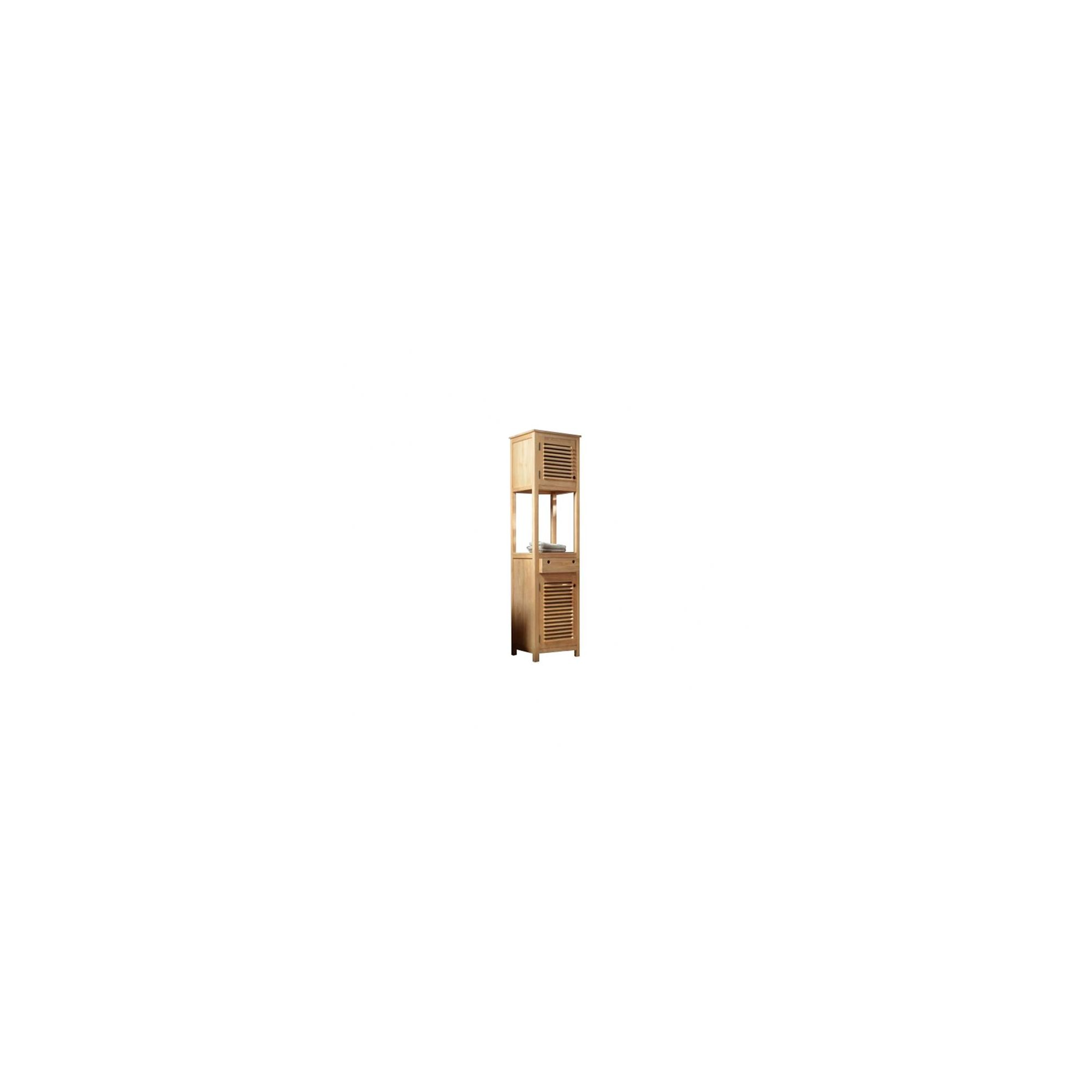 Tikamoon Coline Teak Cabinet Tower at Tesco Direct