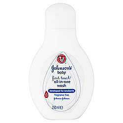 Johnson's Baby First Touch All-in-One Wash 250ml