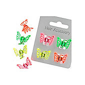 Butterfly Mini Hair Clips - set of 4