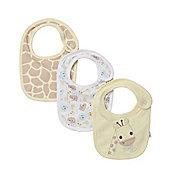 Mothercare Giraffe Bibs - 3 Pack