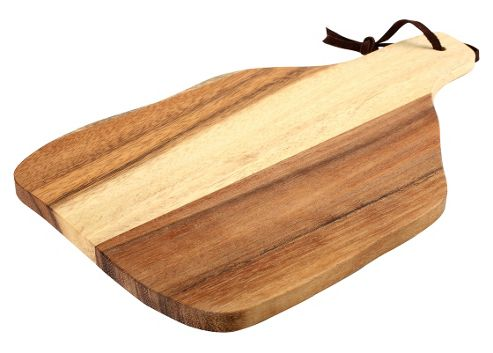 T&G Small Paddle Chopping Board In Rustic Acacia
