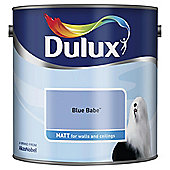 Dulux Matt Emulsion Paint, Blue Babe, 2.5L