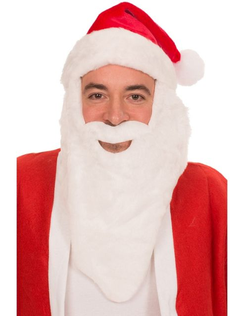 buy santa hat with beard from our all fancy dress range tesco. Black Bedroom Furniture Sets. Home Design Ideas