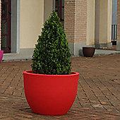 Farmet New Orione Round Pot - Red - 37cm H x 50cm W x 50cm D