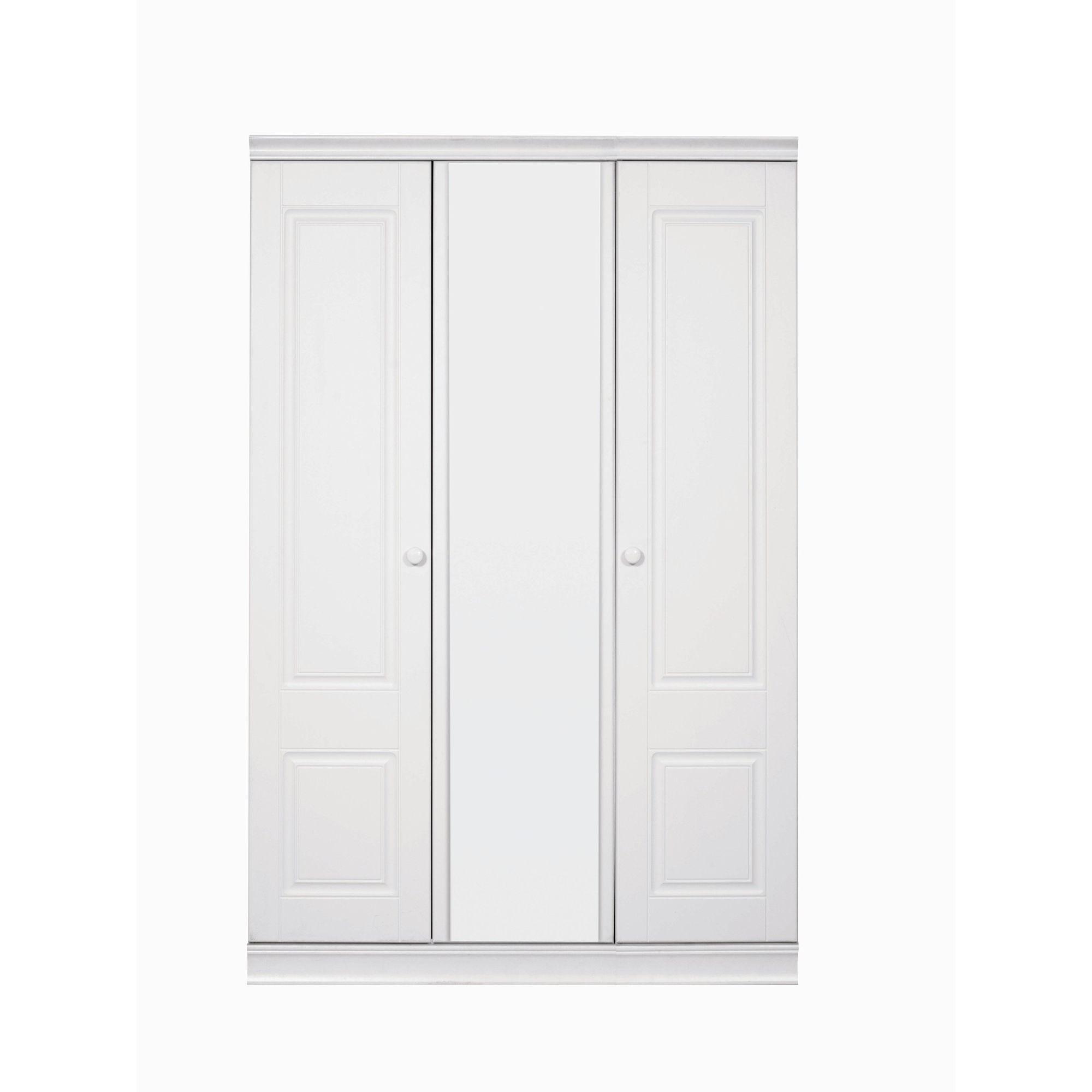 Caxton Henley 3 Door Short Height Mirrored Wardrobe at Tesco Direct