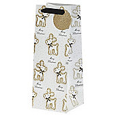 Glitter Reindeer Bottle Bag