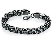 Mens Fred Bennett Steel Antique Chain Bracelet