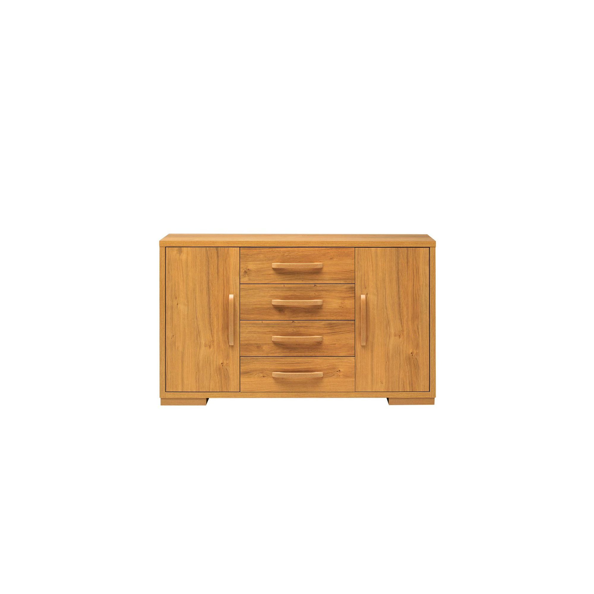 Caxton Strand High Sideboard with Wall Mirror Set in Oak at Tesco Direct
