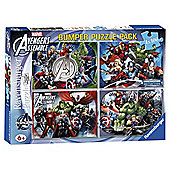Marvel Avengers Bumper Puzzle Pack 4 x100pc