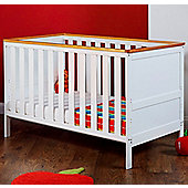 Obaby Newark Cot Bed - White with Pine Trim