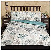 Meadow Watercolour Floral Print Duvet Set - Blue & Multi