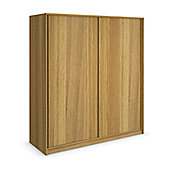 Urbane Designs Hadlee Bedroom Sliding Wardrobe - Oak