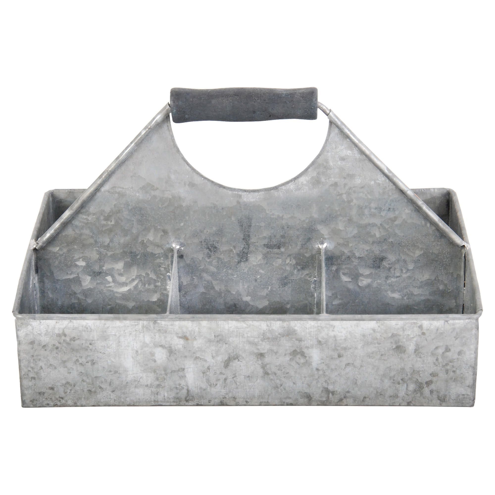 Offerta: Fallen Fruits Old Zinc Square Basket With Storage, Small