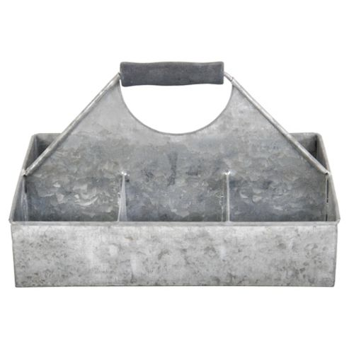 Fallen Fruits Old Zinc Square Basket With Storage, Small