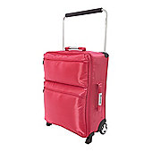 Linea It Pink 2 Wheels Soft Cabin Suitcase