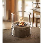 La Hacienda Stainless Steel & Glass Cylinder Gel Burner