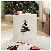 Tesco Luxury Christmas Tree Cards, 6 Pack