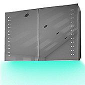 Demist Cabinet With LED Under Lighting, Sensor & Internal Shaver Socket k370t