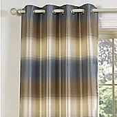Julian Charles Soho Blue Luxury Jacquard Eyelet Curtain -168x137cm