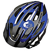 Carrera E0444 Shake MTB Helmet Rear Light Blue White Small Medium 54-57cm
