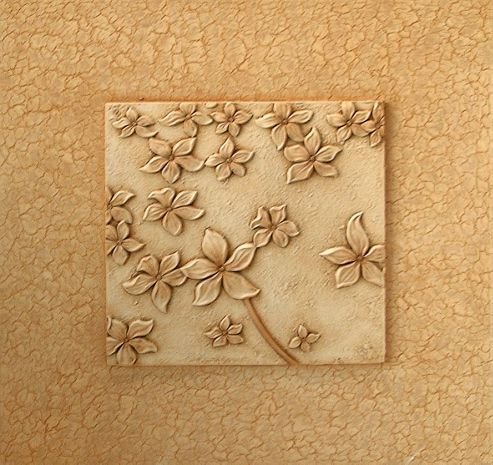 Oceans Apart Cream Little Flowers Tile Wall Art