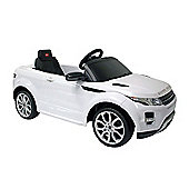 Kids Electric Car Range Rover Evoque 12 Volt White Gloss