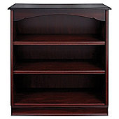 Caxton York Low Wide Bookcase in Mahogany